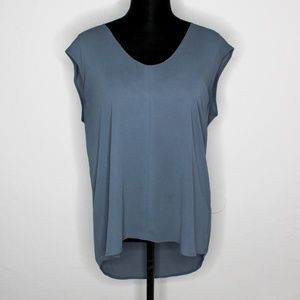 J Crew High Low Flowy Gray Tunic Top Blouse 12
